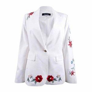 Nine West  Embroidered One-Button Blazer Sz 12